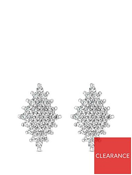 the-love-silver-collection-sterling-silver-cubic-zirconia-diamond-shaped-cluster-stud-earrings