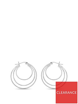 the-love-silver-collection-sterling-silver-three-row-creole-hoop-earrings