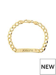 love-diamond-personalised-9ct-gold-13-oz-diamond-set-curb-id-bracelet