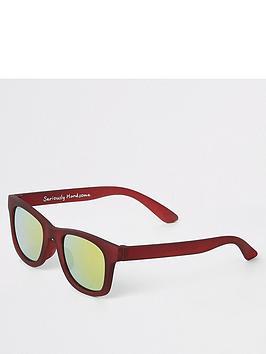 river-island-mini-mini-boys-tinted-lens-retro-sunglasses-red