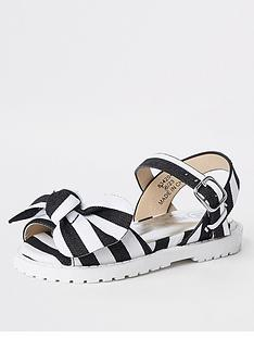 river-island-mini-mini-girls-stripe-bow-clumpy-sandal-black
