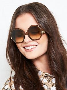 chloe-geometric-seashell-sunglassesnbsp--brown