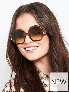 chloe-geometric-seashell-sunglassesnbsp--brown