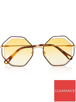 chloe-cut-out-octagon-havananbspsunglasses-yellow