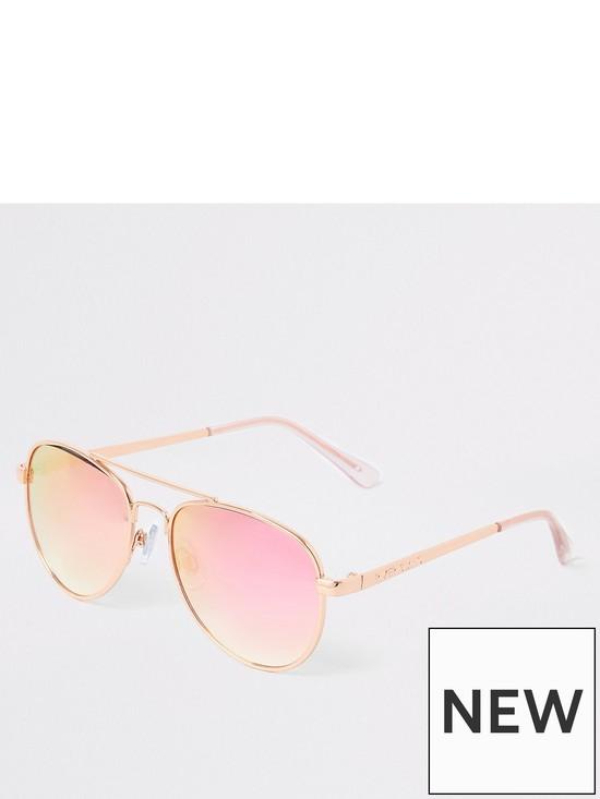 34ab8406ec9de River Island Girls aviator sunglasses - rose gold