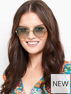 longchamp-octagonal-gradient-lens-sunglasses-gold