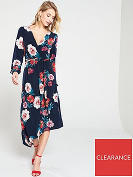 oasis-floral-balloon-sleeve-asymmetric-hem-jersey-dress-bluenbsp