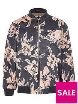 river-island-boys-floral-faux-suede-bomber-jacket-grey