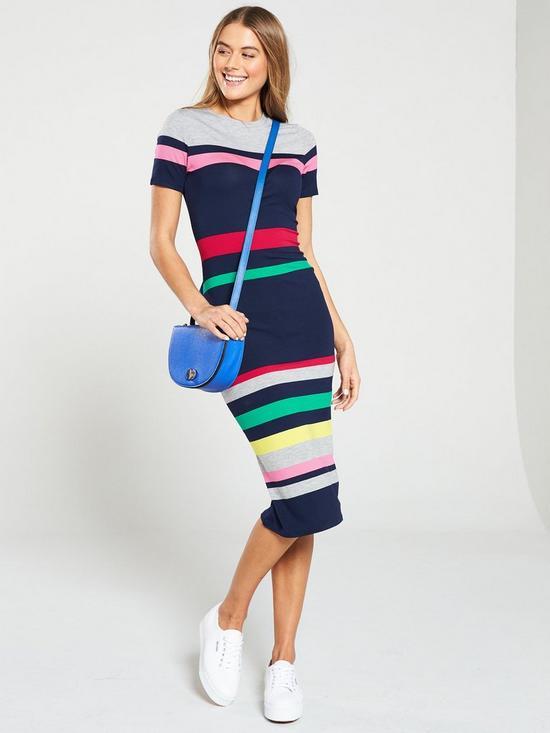 0417ae2678 Oasis Oasis Rainbow Marl Stripe Jersey Tube Dress