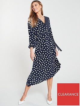oasis-patched-spot-jersey-balloon-sleeve-midi-dress-multi-blue