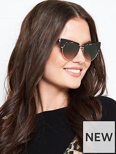 karl-lagerfeld-cat-eye-havana-trim-sunglasses-gold