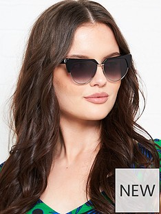 karl-lagerfeld-cat-eye-flat-top-sunglasses-black