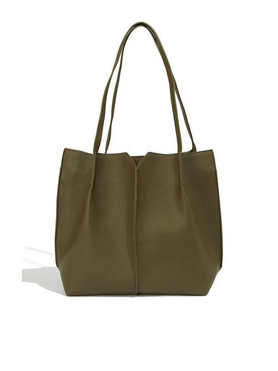 88476dc2b2cc Oasis Amelia Tote Bag - Khaki | very.co.uk