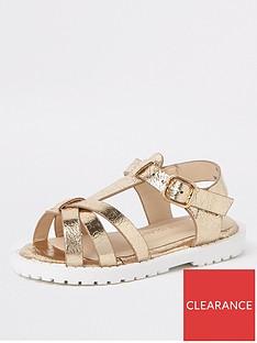 river-island-mini-girls-gold-clumpy-sandals