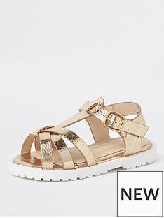 river-island-mini-mini-girls-clumpy-sandals-gold