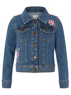 120bb92b504 Monsoon Farrah Flamingo Denim Jacket
