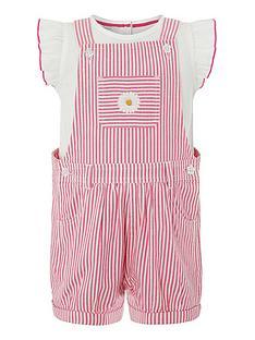 f40b3ca22219 Monsoon Baby Girls Hattie Dungarees - Pink