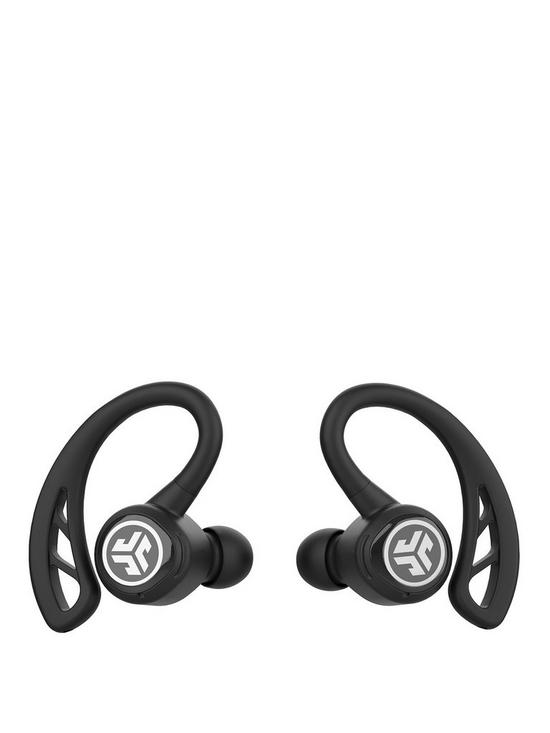 bf6c4ee8c2c JLab Epic Air Elite True Wireless Bluetooth Sweat Resistant Sports Earbuds  with Built In Mic/Touch Controls & Charging Case - Black