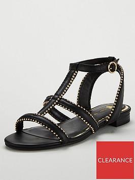 v-by-very-hapur-stud-trim-flat-sandals-black