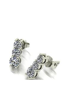 moissanite-9ct-white-gold-1-carat-moissanite-trilogy-stud-drop-earrings
