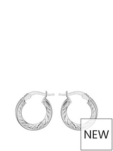 the-love-silver-collection-sterling-silver-10mm-diamond-cut-hoop-earrings