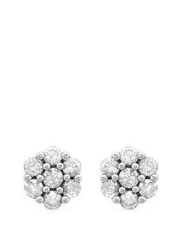 love-diamond-9ct-white-gold-14-carat-diamond-cluster-stud-earrings