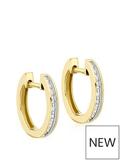 love-diamond-9ct-gold-diamond-set-hoop-earrings