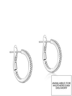 love-diamond-9ct-gold-diamond-set-hoop-earrings