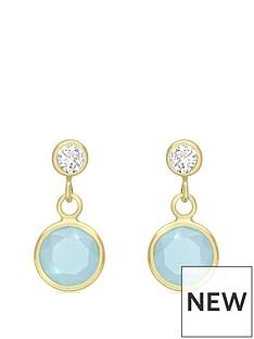 love-gold-9ct-gold-aqua-cubic-zirconia-stud-drop-earrings