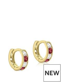 love-gold-9ct-gold-red-white-cubic-zirconia-set-huggie-hoop-earrings