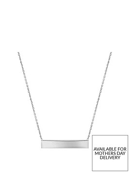the-love-silver-collection-personalised-sterling-silver-17in-horizontal-bar-pendant-necklace