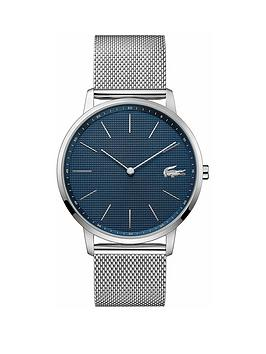 lacoste-lacoste-blue-sunray-dial-stainless-steel-mesh-strap-mens-watch