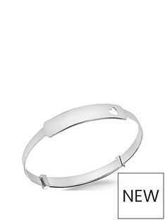 the-love-silver-collection-personalised-sterling-silver-heart-adjustable-baby-bangle