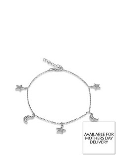 the-love-silver-collection-sterling-silver-cubic-zirconia-moon-stars-bracelet