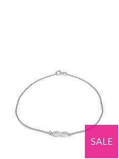 the-love-silver-collection-infinity-charm-claspnbspanklet-silver