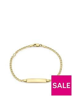 love-gold-9ct-gold-flat-chain-id-bar-bracelet