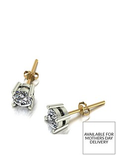 moissanite-18ct-gold-1ct-total-5mm-round-brilliant-moissanite-stud-earrings