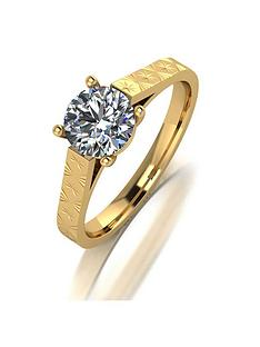 moissanite-9ct-gold-1-carat-moissanite-solitaire-ring-with-diamond-cut-band