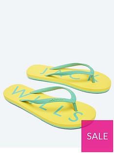 jack-wills-elland-flip-flops-yellow