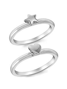 the-love-silver-collection-sterling-silver-set-of-2-heart-and-star-rings