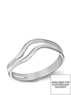the-love-silver-collection-sterling-silver-double-wave-ring
