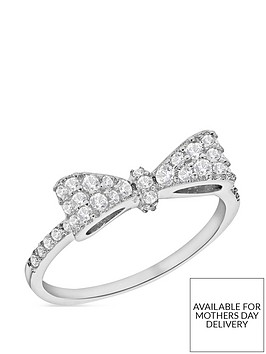 the-love-silver-collection-sterling-silver-cubic-zirconia-bow-ring