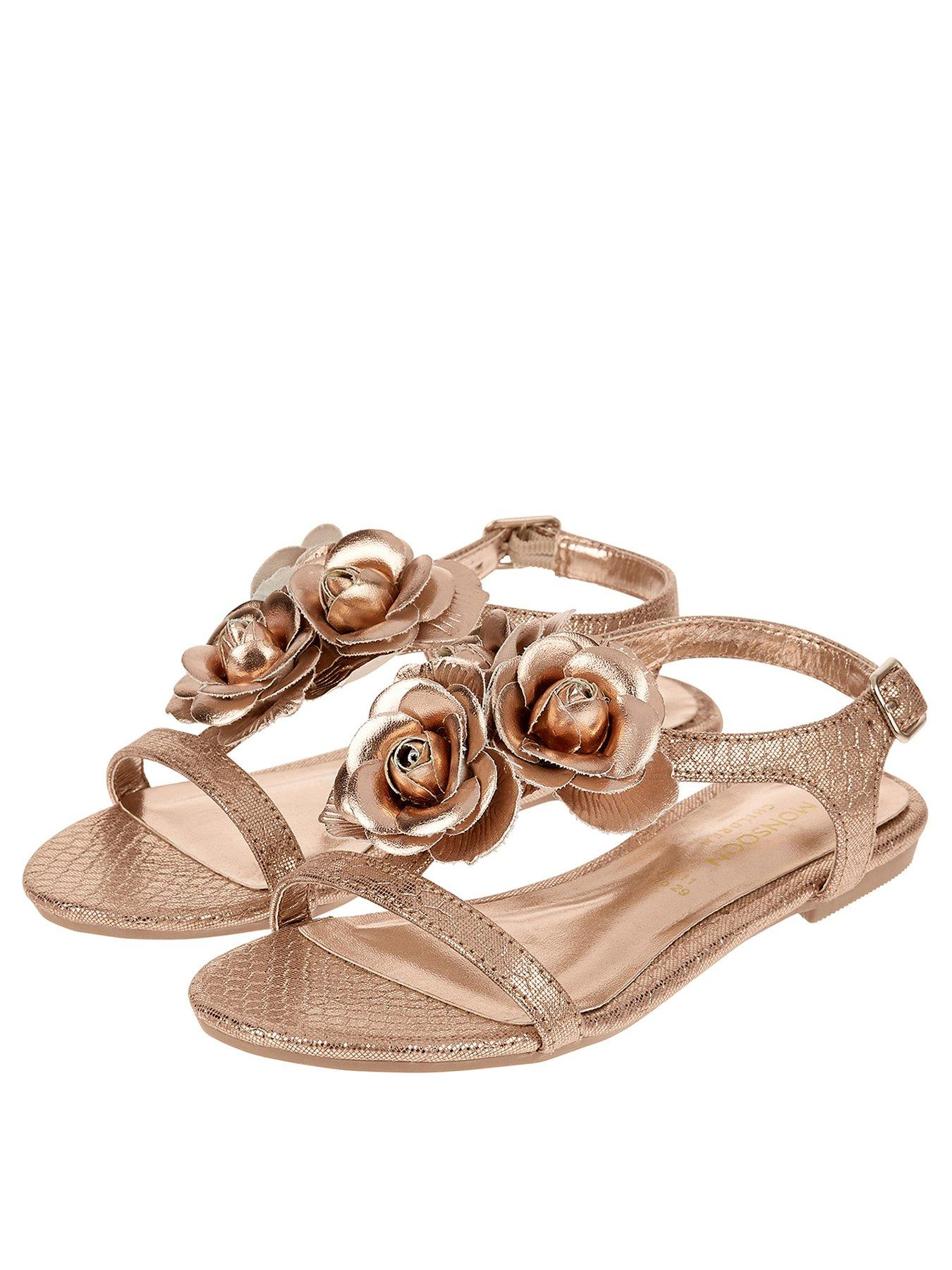 Kids' Clothes, Shoes & Accs. Sunny Brand New Monsson Girls Gold Sandals Size 12 Girls' Shoes