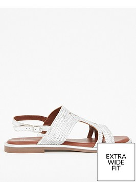 evans-evans-extra-wide-fit-leather-weave-sandal