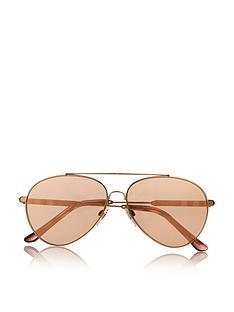 burberry-double-bridge-aviator-sunglasses-gold
