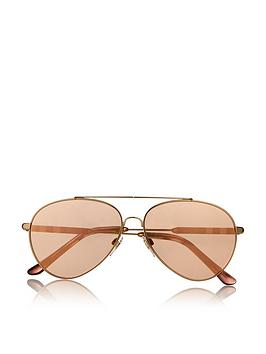 burberry-double-bridge-aviator-sunglasses-gold