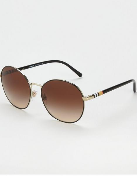 burberry-round-sunglasses-light-gold