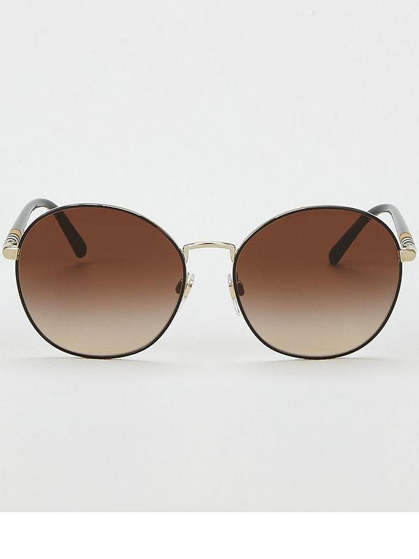 b1c037d124efd4 Burberry Gold/tan Round Sunglasses | very.co.uk