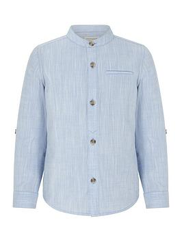 monsoon-boys-tristan-textured-grandad-shirt