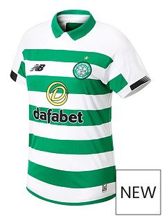 9e2f296ea New Balance Celtic FC Mens 19 20 Home Short Sleeved Shirt - Green White